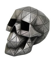 Novelty Futuristic Geometric Shape Skull Collectible Figurine Desktop Ho... - £18.98 GBP