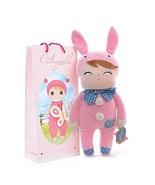 "Angela bunny doll w pink ears 12"" plush stuffed animal soft toy girl col... - $19.75"
