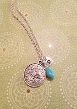 Birthstone December turquoise Sagittarius neckl... - $26.00 - $28.00