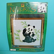 Designs For The Needle Nature's Window Pandas Counted Cross Stitch Kit 5... - $9.95