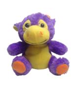 Kellytoy Purple Cow Bull Plush Neon Orange Yellow Stuffed Farm Animal To... - $21.73