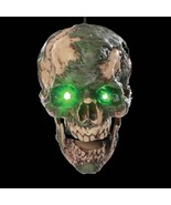 Animated Scary UNDEAD FRED SEVERED ZOMBIE HUMAN HEAD Halloween Horror Prop - $53.87