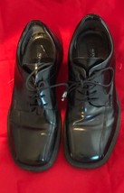 Men's Alfani Black Leather Dress Shoes Medium DOMINO Made in Italy Size ... - $34.26
