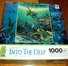 Jigsaw Puzzle 1000 Pieces Sea Turtles Angel Fish Coral Ocean Art No Pcs ... - $14.84