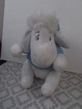 DISNEY STORE SNOWBALL EEYORE Pooh Ice Blue & White Christmas - $14.99