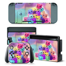 Nintendo Switch Color Bears Console & Joy-Con Controller Decal Vinyl Skin Wrap - $11.85