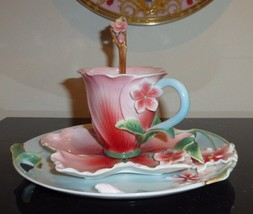 TWO'S COMPANY GARDEN PARTY HIBISCUS TEA SET - $99.00
