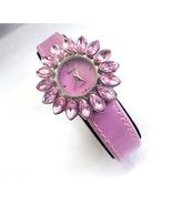 Pink Wristwatch Ladies Marquise Stone Sunburst Frame Fashion Watch - $20.00