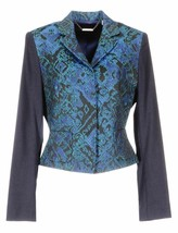 Elie Tahari RONI Jacquard Jacket Blazer $498, Navy, Size 8 NWT! - $74.24
