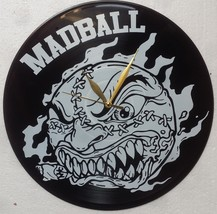VINYL PLANET CLOCK MADBALL Home Record Unique Decor upcycled 12'' - $26.23