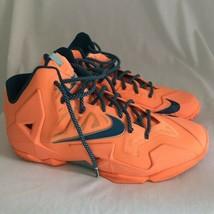 Nike Lebron XI 11 Atomic Orange Abyss Glacier Basketball Shoes, Men's Si... - $90.24