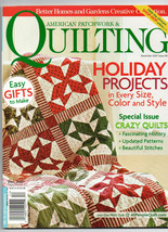 Dec 2007/American Patchwork & Quilting/Preowned Craft Magazine - $3.99