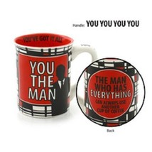 Father's Day Mug You the Man for the Guy who has everything have more coffee - $39.99