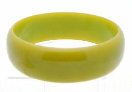 VTG Wide Yellow Green Marbled End of Day BAKELITE TESTED Bangle Bracelet - $123.75