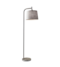 Adesso 4071-22 Blake Floor Lamps 18in Brushed Steel 1-light - $130.00