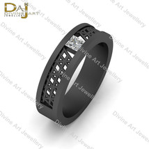 Mesh Design Wedding Band Solitaire 0.18ct Simulated Diamond Engagement R... - £60.45 GBP+