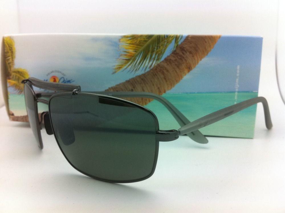 Nuevo Maui Jim Gafas de Sol Manele Bay Mj 224-17 57-18 Metalizado con / Gris