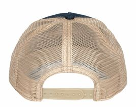 Goorin Bros Animal Farm Snapback Mesh Cap Navy Denim Racoon Bandit Trucker Hat image 3