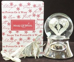 Things Remembered Make A Wish Heart Globe musical 2011 rare limited edition - $57.77
