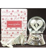 Things Remembered Make A Wish Heart Globe musical 2011 rare limited edit... - $67.77