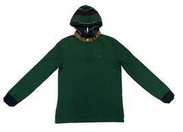 Tommy Hilfiger Men's Logo Sweatshirt Hoodie, Green, X-Large - $49.49