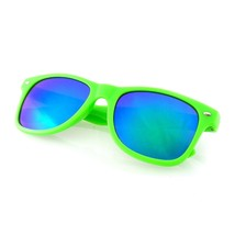 Flash Color Mirror Reflective Horned Rim Sunglasses - $6.60