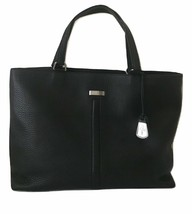 Cole Haan Womens Black Pebbled Leather Satchel Shoulder Laptop Business Bag - $80.00
