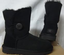 UGG Black Bailey Button II Suede Boots Women's Size US 5, EU 36 NIB #1016226 - $118.79