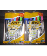 Bic Cristal Bold Colors 2-10 Pack Assorted Color Ball Point Style Pens - $5.38