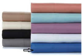 Concierge Rx Microfiber Sheet Set with 3M Scotchgard, Full, Blue - $39.59