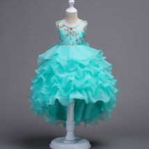 Mint Green Pricess Flower Girl Dress Skirts Tiers Formal Party Gowns Short 2018 image 4