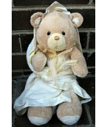 Baby Gund Nursery Swaddled Bear Lovey Security Blanket Satin Soft Plush ... - $35.99