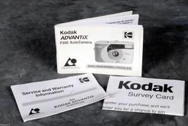KODAK Advantix F350 instruction book with warranty and survey info. - $3.00