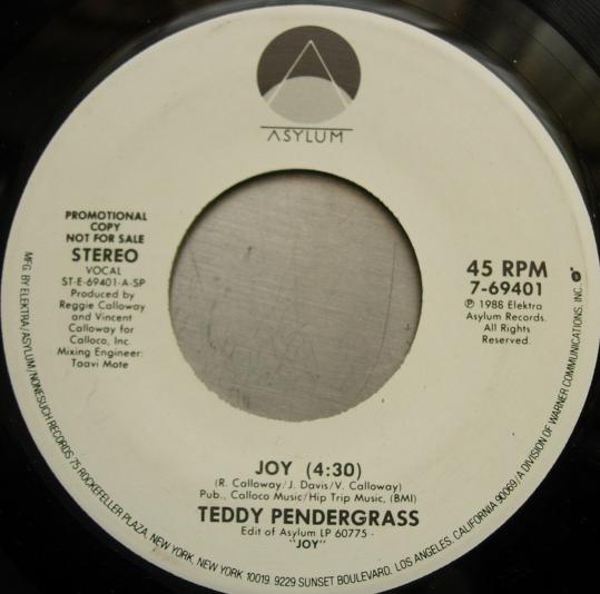 Teddy Pendergrass - JOY - Asylum 69401 - PROMO