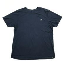 HURLEY NIKE DRI-FIT Shirt Navy Blue Tee Reflective Logo Skateboarder Act... - $12.75