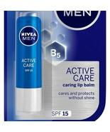 NIVEA MEN Lip Balm Active Care SPF15 Long Lasting Moisture INTENSIVE 4.8GM - $7.40