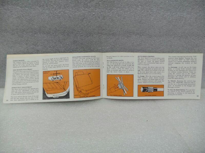 DODGE MONOCO POLARA    1972 Owners Manual 16347