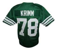 Krimm #78 Necessary Roughness Texas State New Men Football Jersey Green Any Size image 5