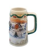 1996 Budweiser Stein Anheuser Bud Holiday Christmas Beer Mug American Ho... - $18.99