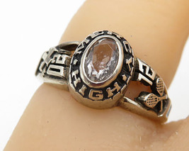 "925 Silver - Vintage White Topaz ""Mercy High 2012"" Band Ring Sz 4.5 - R4710 - $22.97"