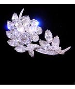 Eisenberg Ice Brooch - numbered pin - silver flower spray - wedding jewe... - $165.00