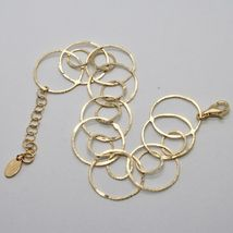 Silver Bracelet 925 Foil Gold Circles Worked by Maria Ielpo Made in Italy - image 5