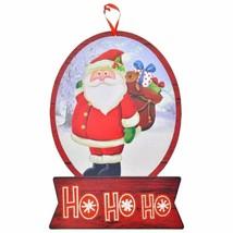 """Christmas Holiday Snow Globe Sign Santa HOHOHO 9""""X16.5"""" w - $6.99"""