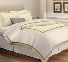 Fieldcrest Luxury Mitered Queen Oversized Duvet Cover Shams Set Jacquard... - $83.60