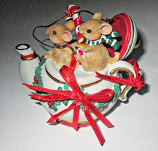 San Francisco Music Box Company Mice in Teapot Ornament  - $5.00