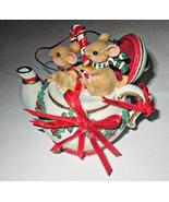 San Francisco Music Box Company Mice in Teapot Ornament  - $5.95