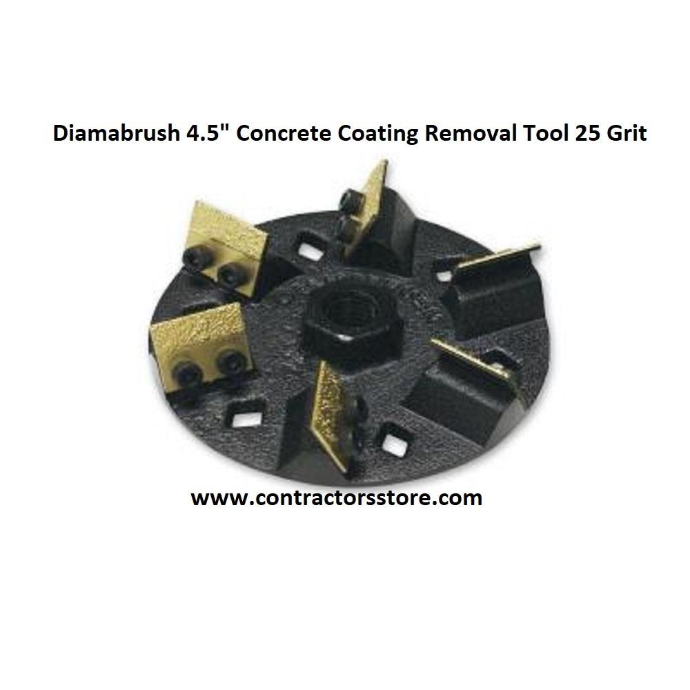 "Diamabrush 4.5"" Concrete Coating Removal Tool 25 Grit"
