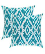 TreeWool, (Pack of 2) Ogee Ikat Diamond Accent Throw Pillow Covers in Co... - $19.99