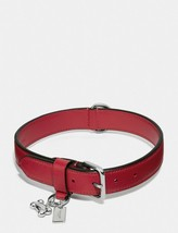 NWT Coach Large Pet Dog Collar RED Leather With Gift Box F26904 + GIFT R... - $69.29