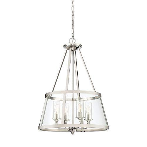 Quoizel BAW1820PK Barlow Pendant Lighting, 4-Light, 240 Watts, Polished Nickel ( - $573.88